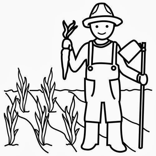 Dibujos campesino para colorear - Imagui