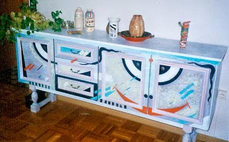 Hand painted furniture by artist Mahirwan Mamtani, Image courtesy artist, Art Scene India