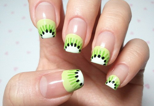Cute Cucumber Fruit Nail Art