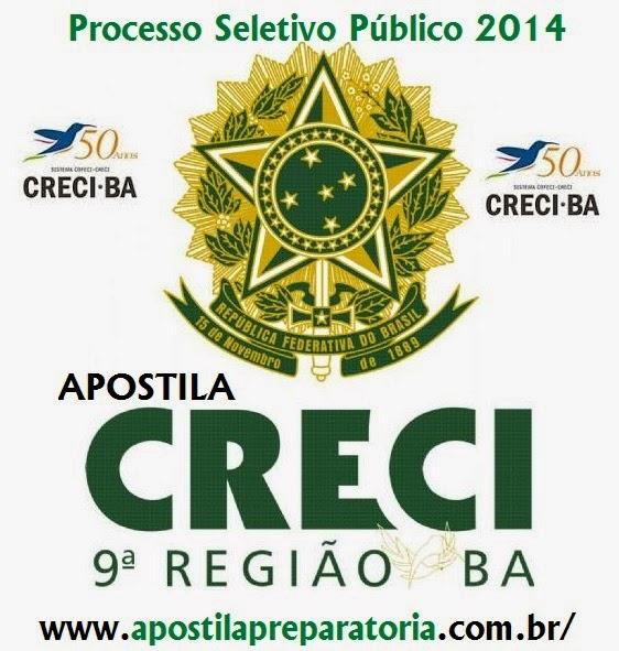 Apostila Processo Seletivo Creci - BA 9ª Região 2014