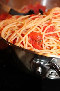 chop whisk stir: Naked Tomato Sauce