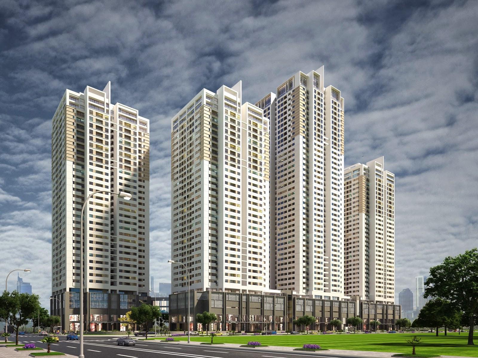 phối cảnh dự án chung cư cao cấp HP Landmark tower