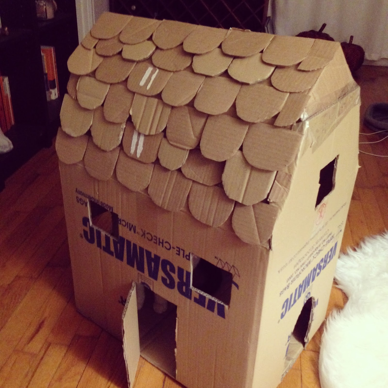 Download Cardboard Cat House Plans PDF cardboard playhouse ...