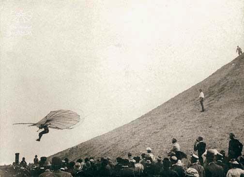 ليلينتال خلال إحدي رحلاته الشراعية,أوتو ليلينتال,ملك الطائرة الشراعية