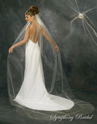 Discount Bridal Prices: NEW!!!~~2011~~~SYMPHONY BRIDAL VEILS~~~BEST PRICE~~ :  pearl silver motif edge