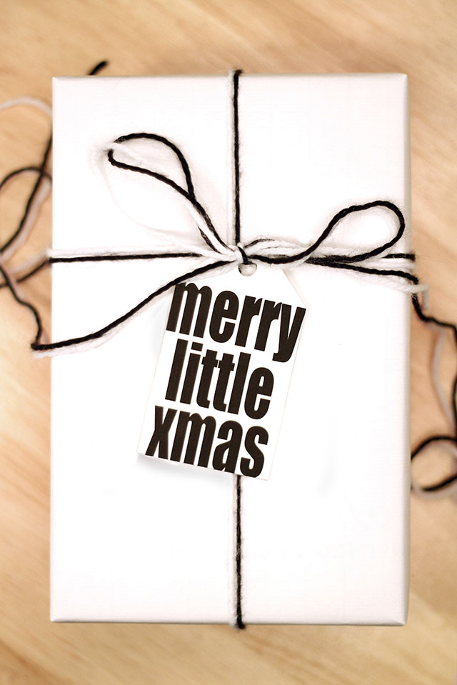 Printable Black & White Holiday Gift Tags
