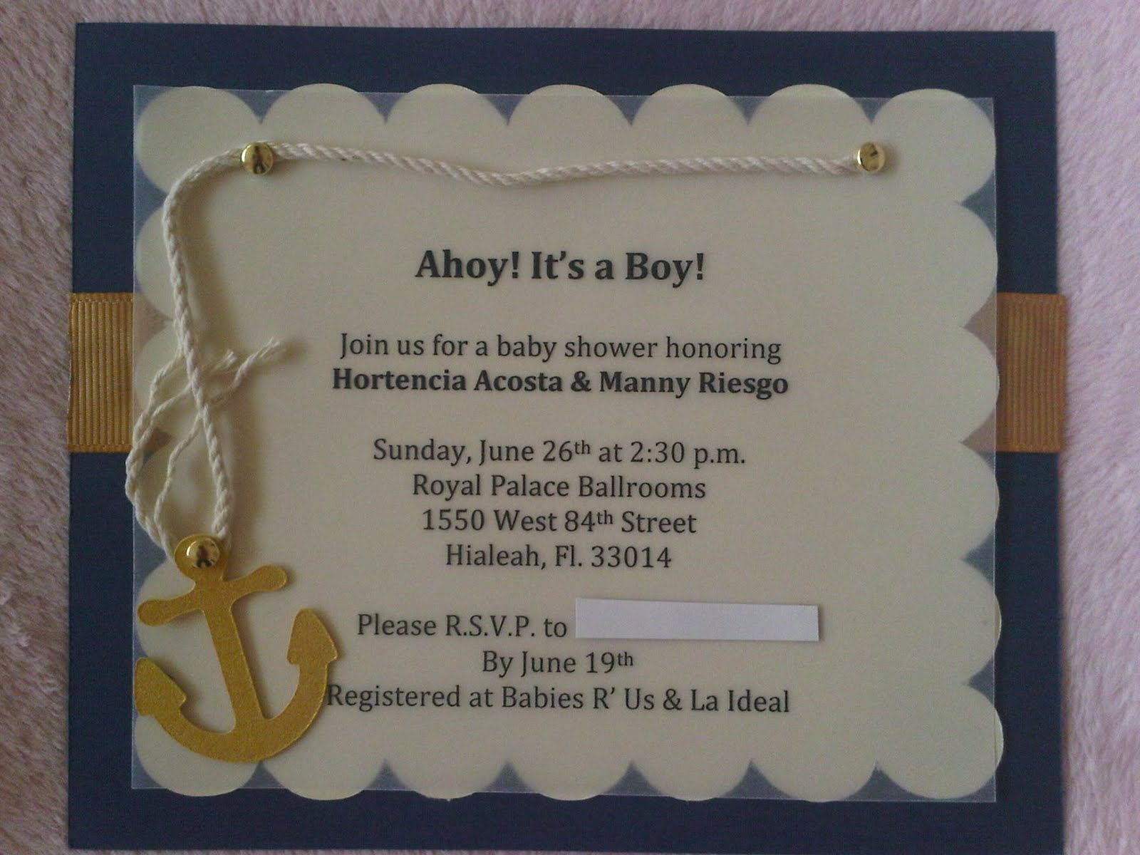 printable bridal invitations shower invitation nautical pin baby anchor color with options