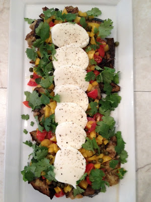 ri-Colore Eggplant Salad With Buffalo Mozzarella from ottolenghi plenty recipe