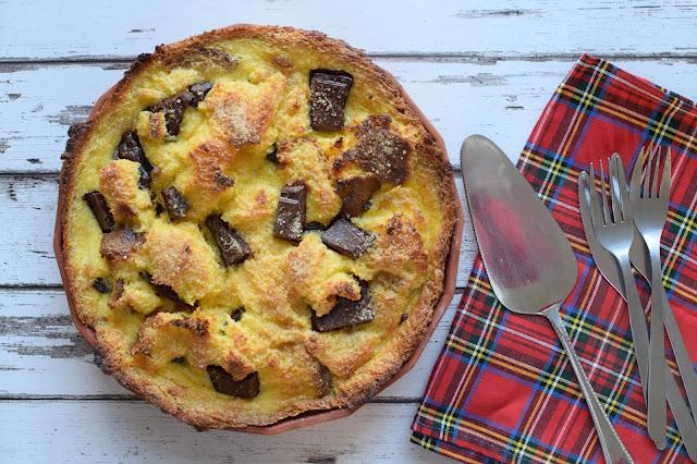 pandoro bread and butter pudding tart recipe