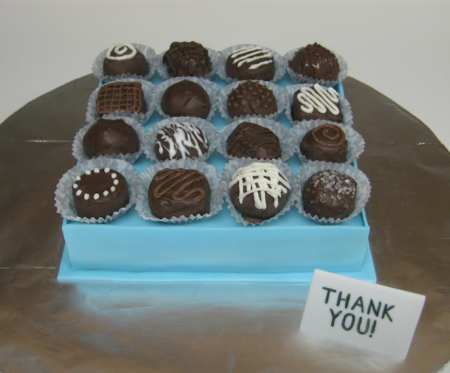 Box of Chocolates Cake with Cake Balls 3