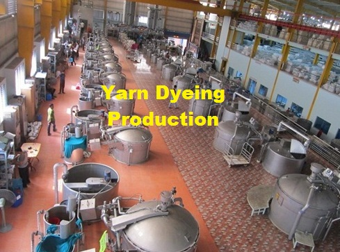 Yarn dyeing production floor