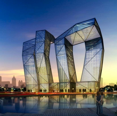 Architecture, Building, Cool Design, GIFT, India, naga tower, snake tower, gandhinagar, india, awesome, engineering, megaproject, under construction, gujarat, international, finance, tec-city, tower, tallest tower, in india, weird shape