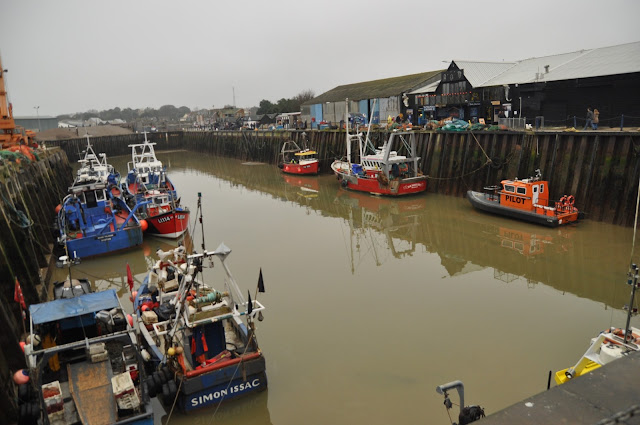 Whitstable Harbour low tide