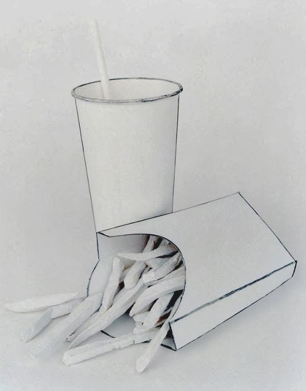 Real Objects Made to Appear Like Two-Dimensional Drawings