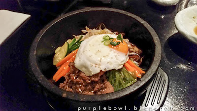 beef and veggie stone bowl