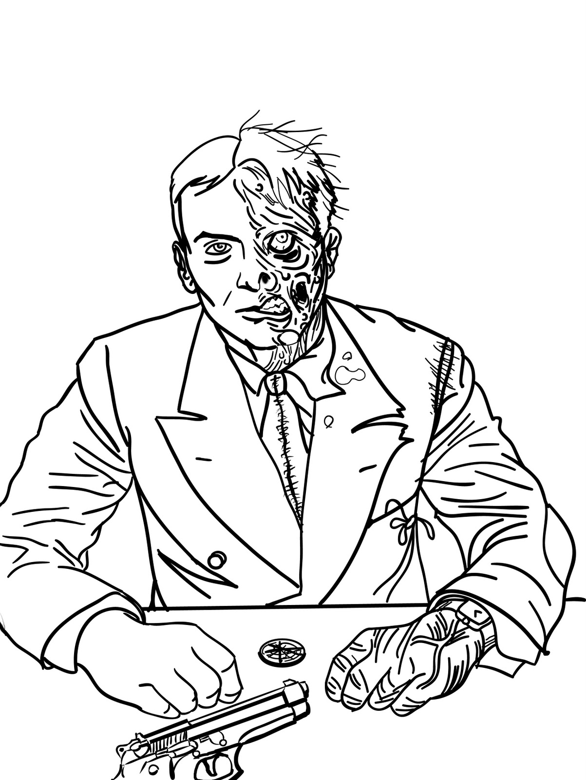 Adult Beauty Two Face Coloring Pages Gallery Images top toekneearrows harvey dent tuesday january 3 2012 images
