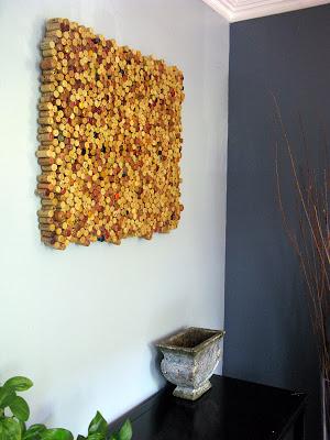 Pannello artistico da riciclo creativo tappi di sughero