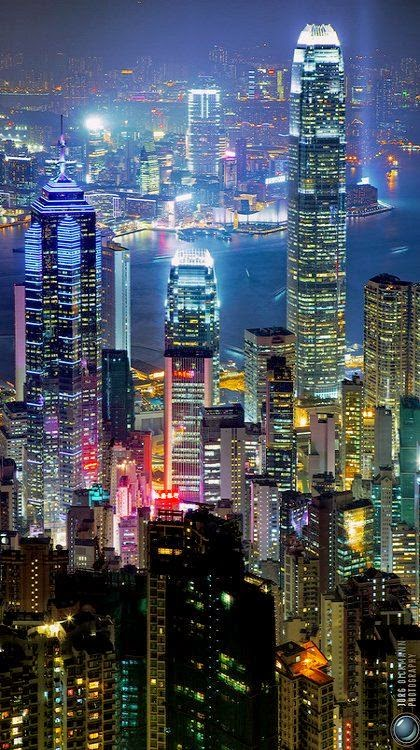 City Lights.. Hong Kong