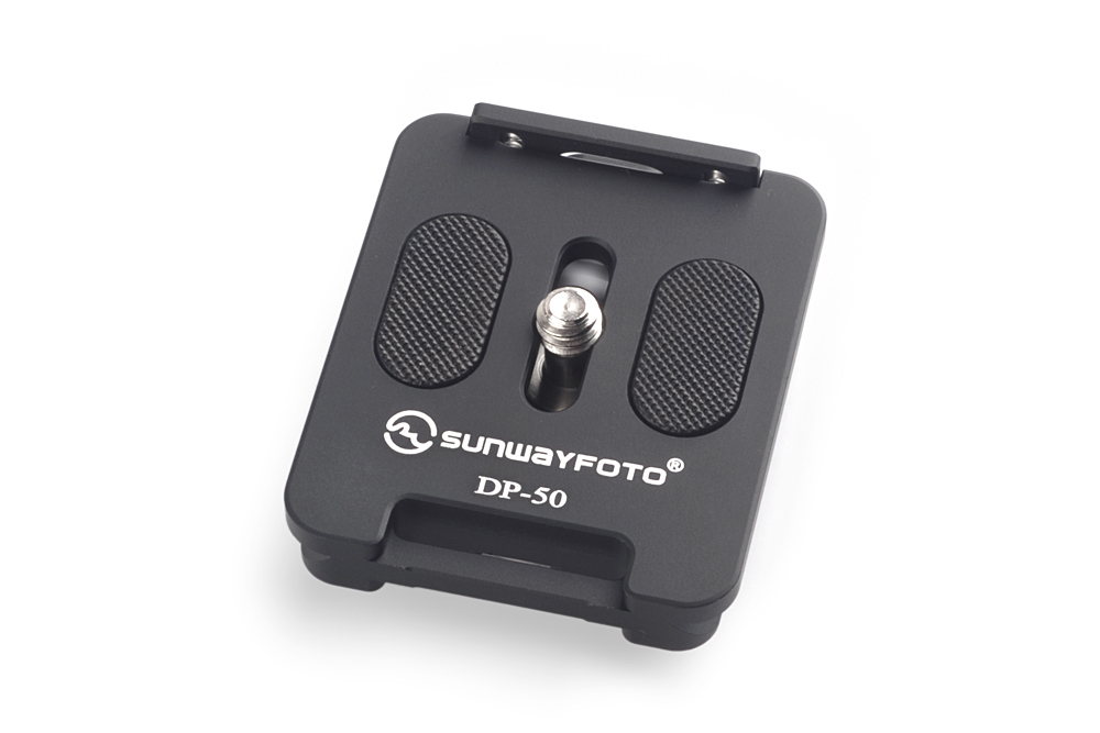 Sunwayfoto DP-50 Universal QR plate w/ retractable ridge