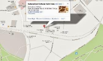 Mapa de Tarhi Sultanahmet Köftecisi
