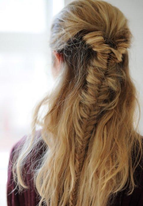 Shampalove rihanna fishtail braid for Fish braid hairstyle