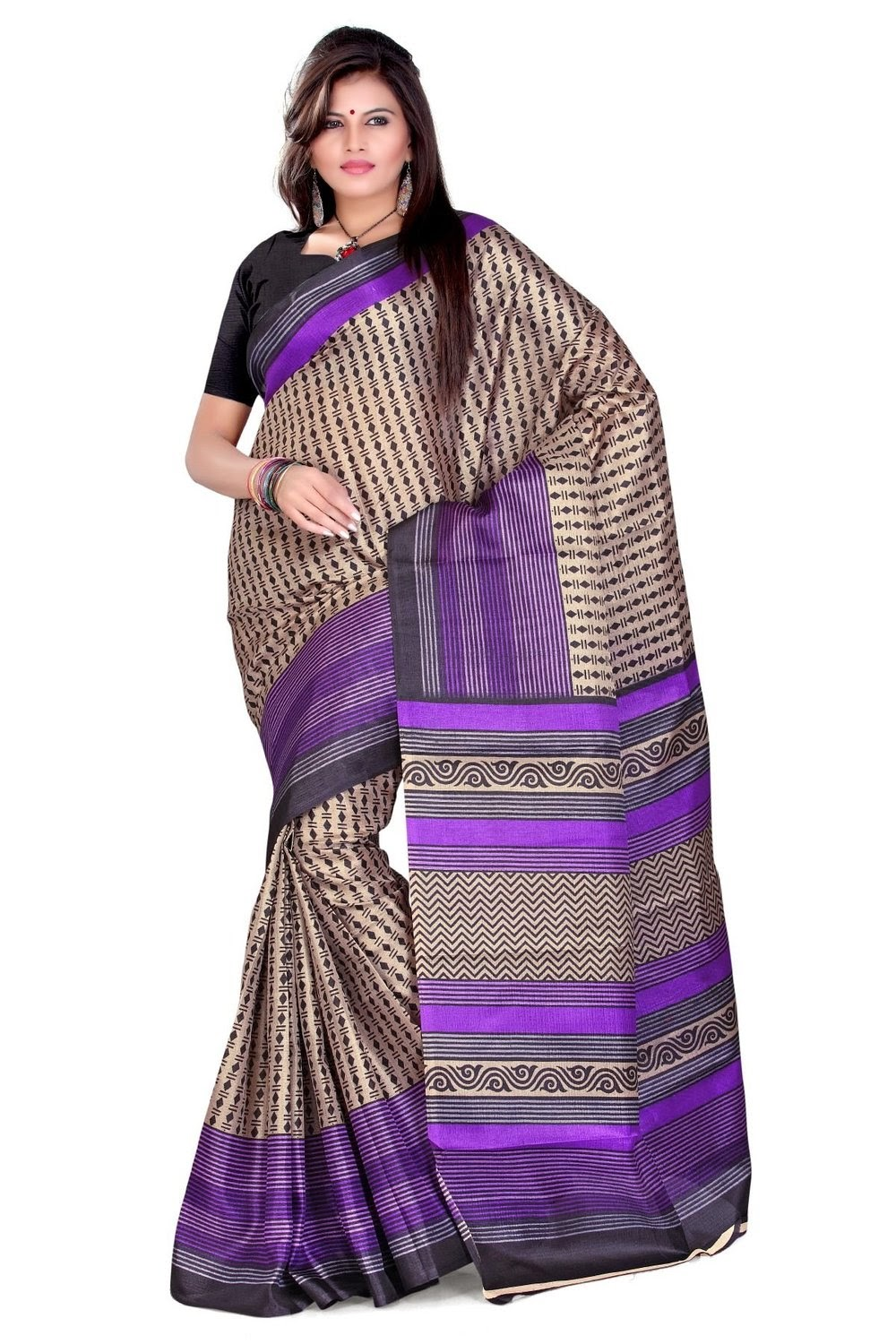 Amazon : Buy Branded Cotton, Silk and printed Sari at FLAT Rs. 399 only