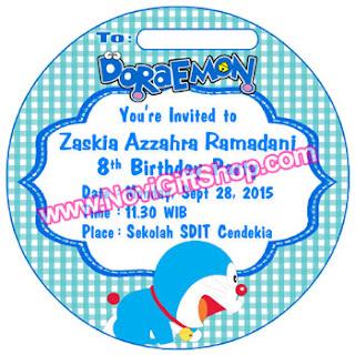 Invitation Doraemon Zaskia Kartu Undangan Ulang Tahun Anak (Invitation Card)
