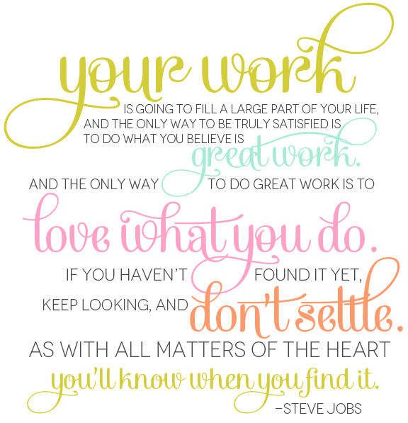 Steve Jobs Quote Your Work
