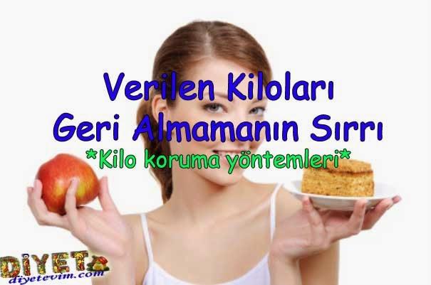 diyet sonrası kilo koruma