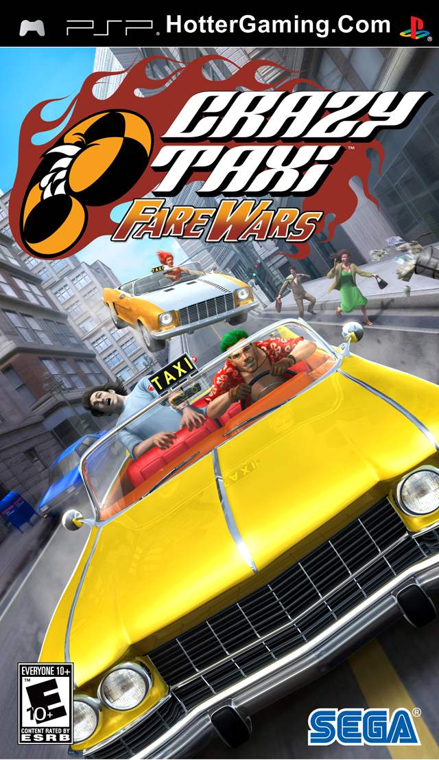 Free Download Crazy Taxi Fare Wars PSP Game Cover Photo