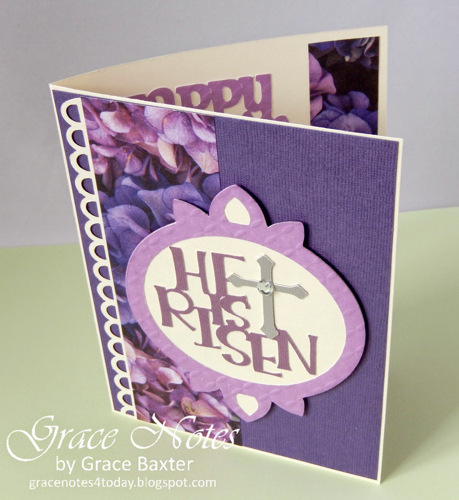 He Is Risen, variation on a theme, card by Grace Baxter