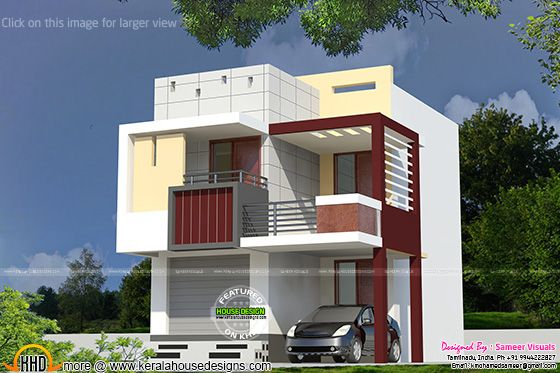 Very small double storied house home design simple for Very simple home design