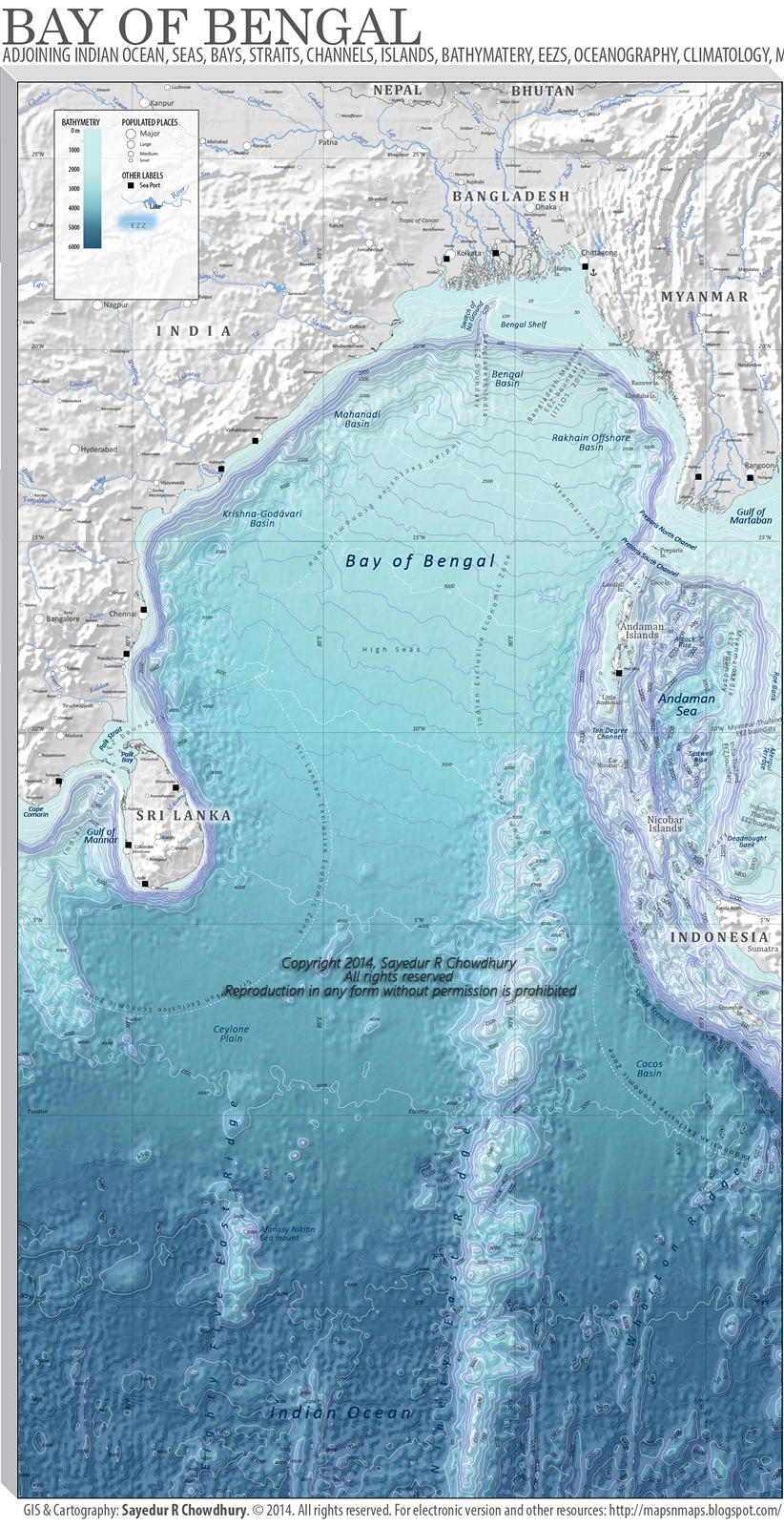 Bay of Bengal  mapsmaps