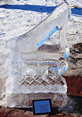 Ice Carving Cinderella's Slipper