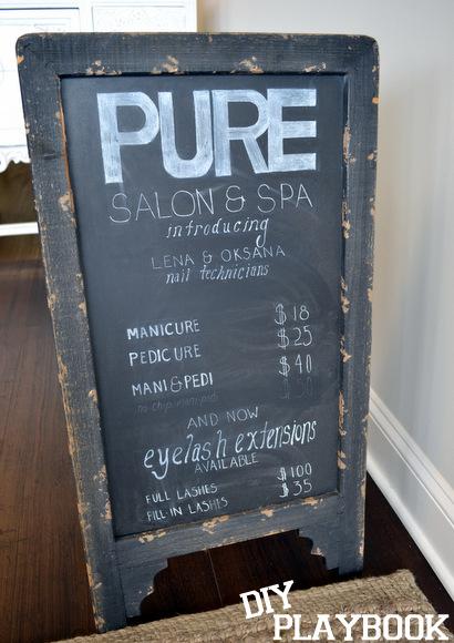 Pure Salon Chalk Board