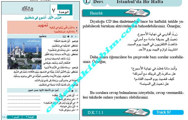 9sınıf Arapça 7ünite Tatil Ders Kitabı Cevapları Din Kültürü