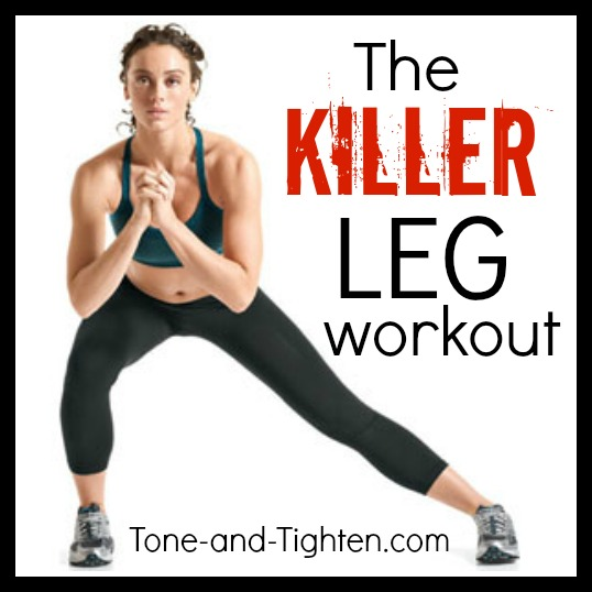 The Killer Leg Circuit Workout | Tone and Tighten