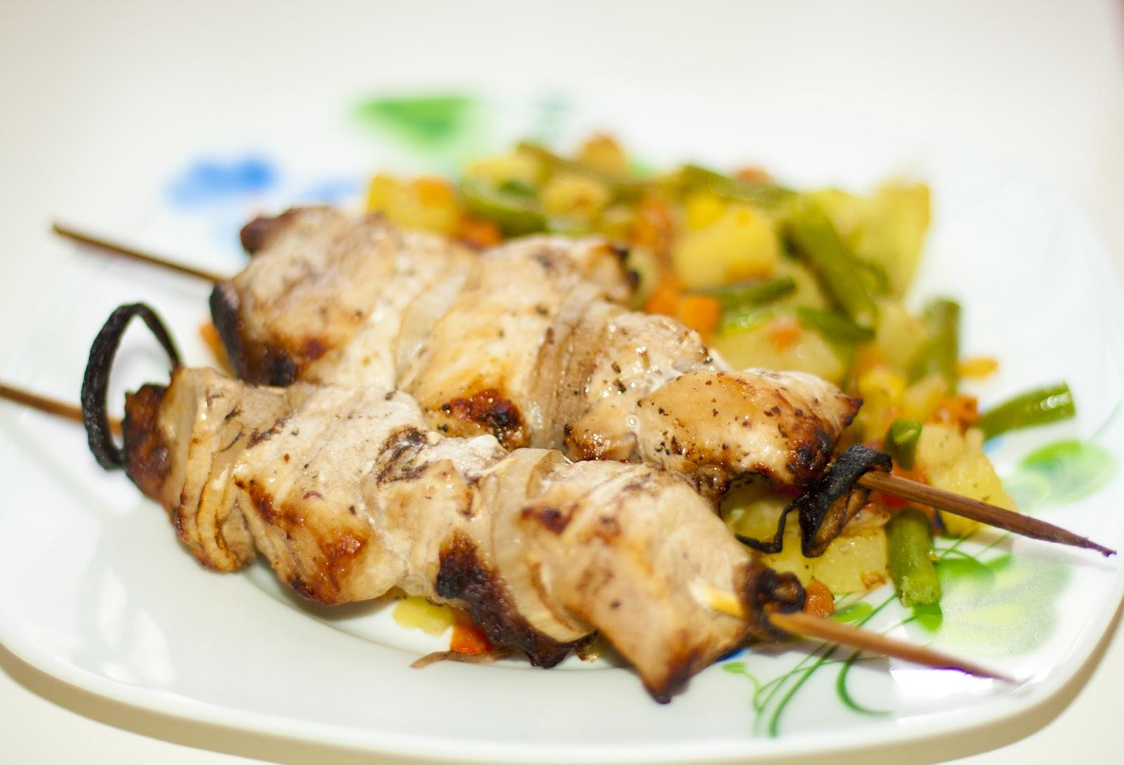 Свинина на шпажках рецепт