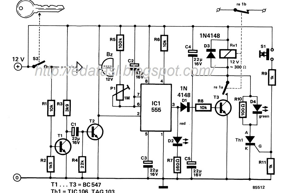 electronic circuit  componnent data  lesson and etc u2026   automatic car alarm