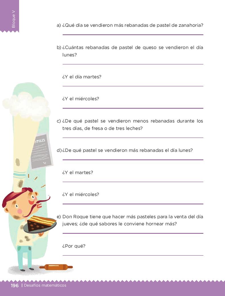 ¡Pasteles, pasteles! - Desafios matemáticos 4to Bloque 5 2014-2015