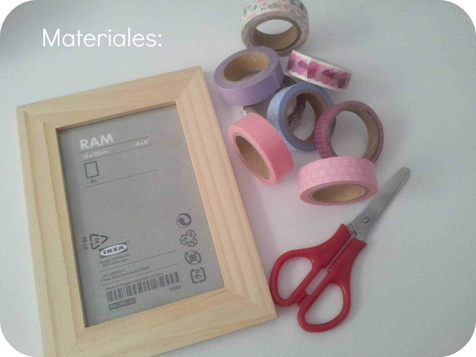 Srta Pomelo: Tutorial: cómo decorar un marco de fotos con washi tape.