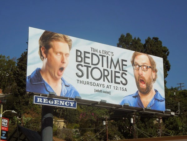 Tim Eric Bedtime Stories series premiere billboard