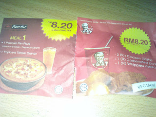stesen minyak shell, kentucky fried chicken-KFC,Pizza Hut,voucher,koupon
