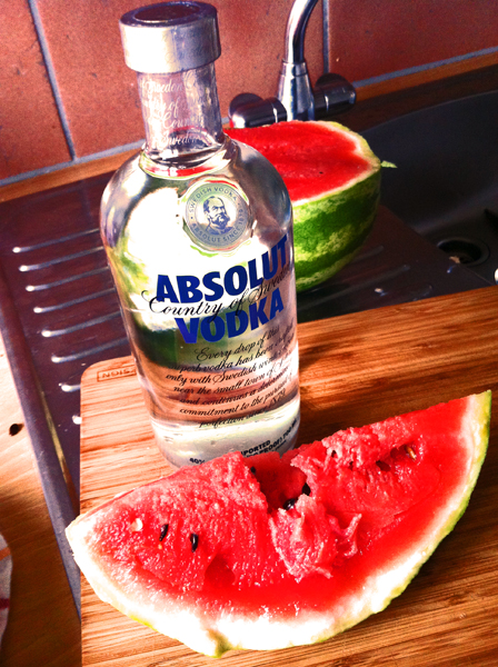How to make a drink with watermelon and vodka