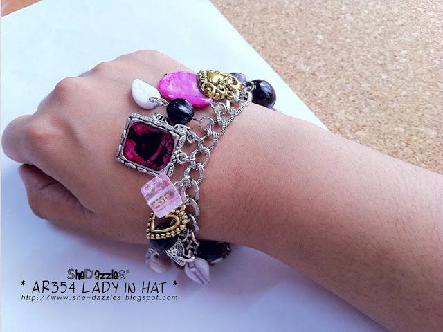 lady-hat-charm-bracelet-malaysia