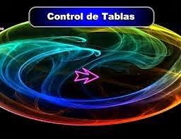 CONTROL DE TABLAS