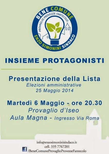 Presentazione Bene Comune Enzo Simonini Sindaco