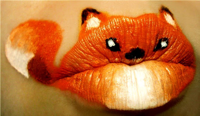 Orange Fish Lip Makeup