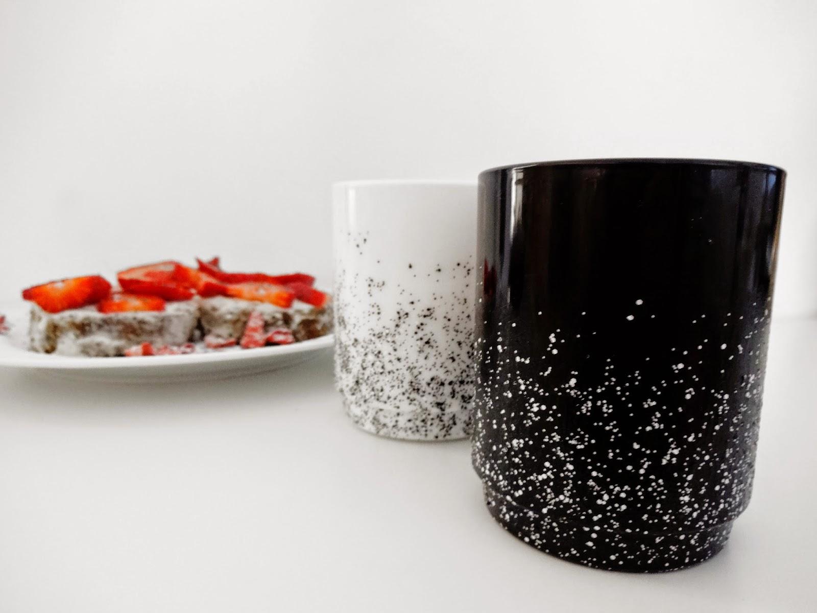 basteln malen kuchen backen tassen versch nerung mit nagellack und erdbeer limette mohn k chlein. Black Bedroom Furniture Sets. Home Design Ideas