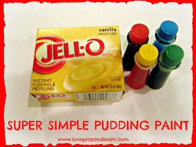 Edible Pudding Finger Paint